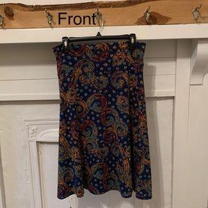 LuLaRoe Azure A-Line Skirt